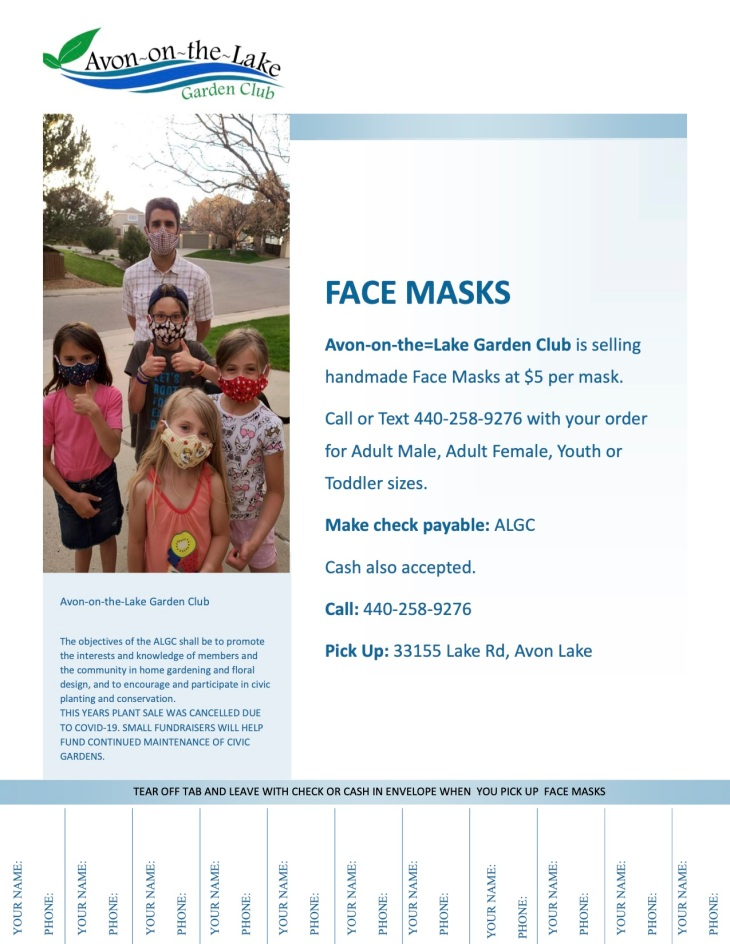 Face Mask Flyer with Tabs-1